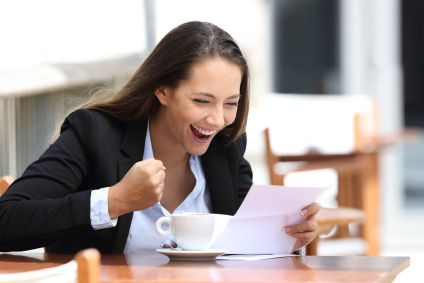 Job Seeker happy over job offer