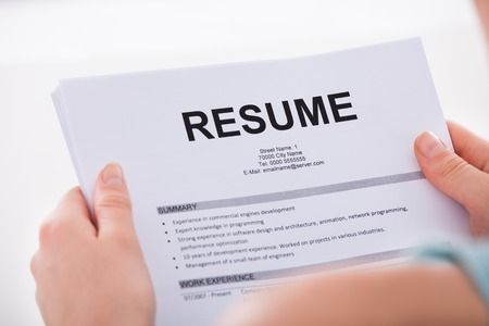 Pic of resume